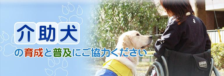 介助犬の育成と普及にご協力ください