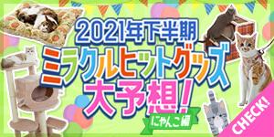 2021年下半期 ミラクルヒットグッズ 大予想!【にゃんこ編】