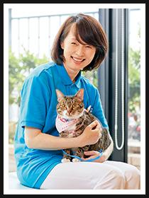 赤坂動物病院 動物看護師/尾前 元子さん&らんまるくん(MIX 3才)